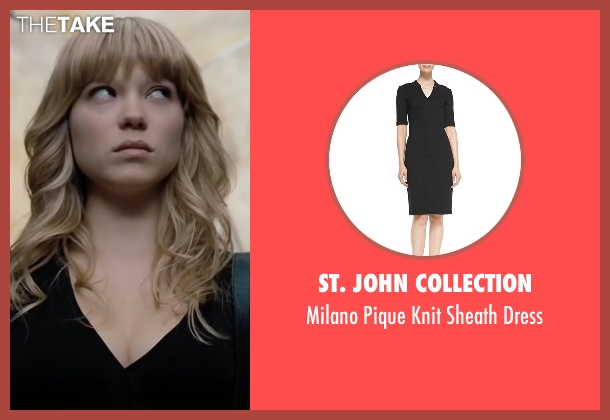 St. John Collection black dress from Mission: Impossible - Ghost Protocol seen with Léa Seydoux (Sabine Moreau)