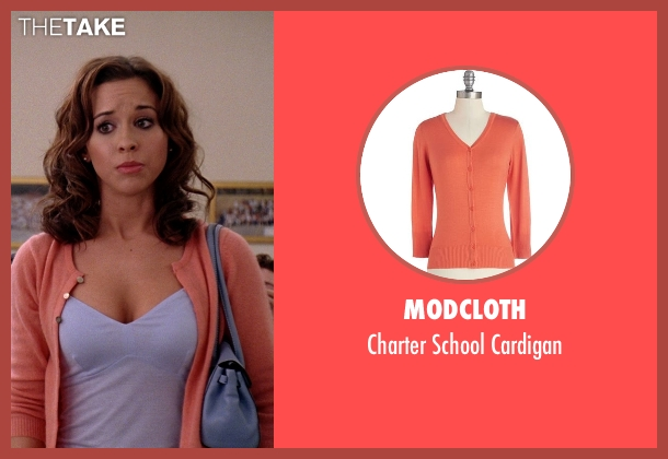 ModCloth orange cardigan from Mean Girls seen with Lacey Chabert (Gretchen Wieners)