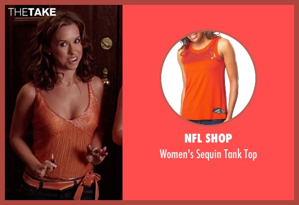 NFL Shop orange top from Mean Girls seen with Lacey Chabert (Gretchen Wieners)