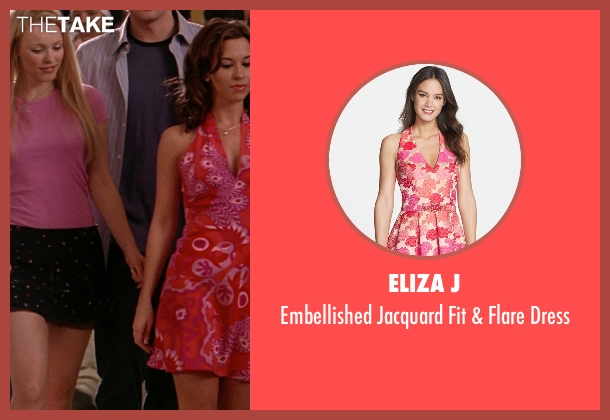 Eliza J pink dress from Mean Girls seen with Lacey Chabert (Gretchen Wieners)