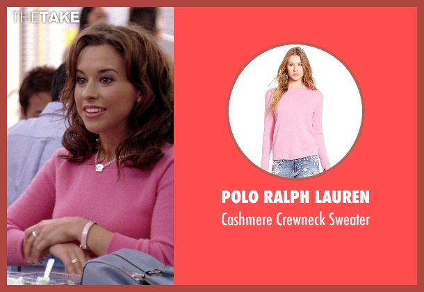 Polo Ralph Lauren pink sweater from Mean Girls seen with Lacey Chabert (Gretchen Wieners)