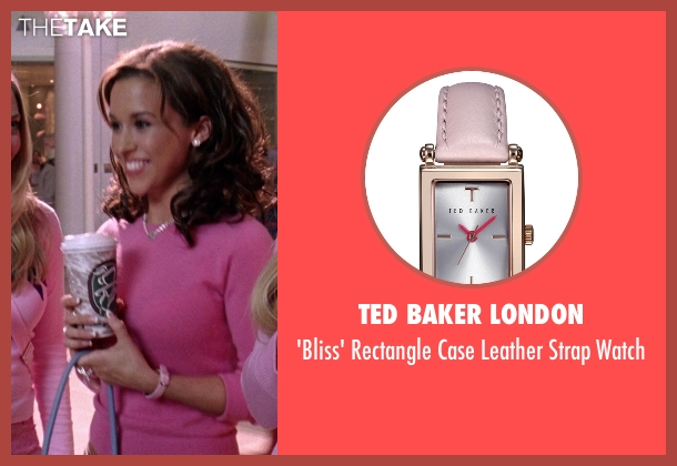 Ted Baker London pink watch from Mean Girls seen with Lacey Chabert (Gretchen Wieners)