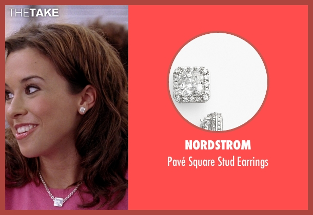 Nordstrom silver earrings from Mean Girls seen with Lacey Chabert (Gretchen Wieners)