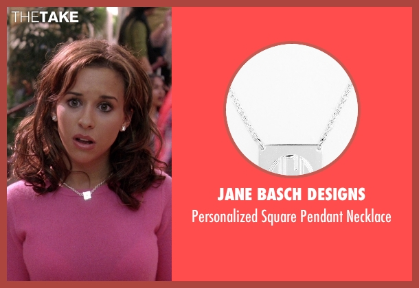 Jane Basch Designs silver necklace from Mean Girls seen with Lacey Chabert (Gretchen Wieners)