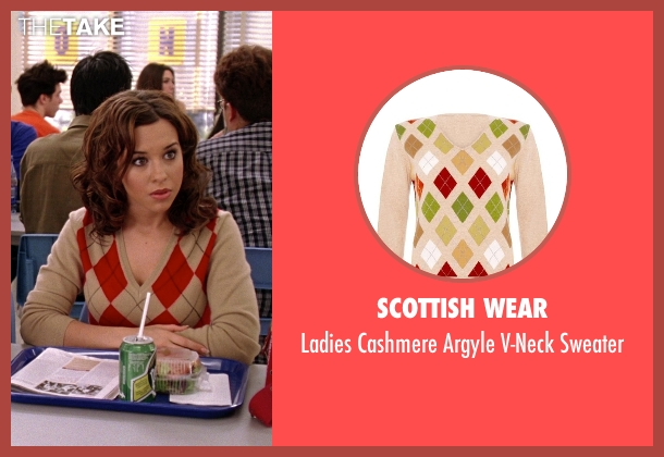 Scottish Wear white sweater from Mean Girls seen with Lacey Chabert (Gretchen Wieners)