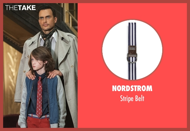 Nordstrom blue belt from American Horror Story seen with Lachlan Drake (Lyric Angel)