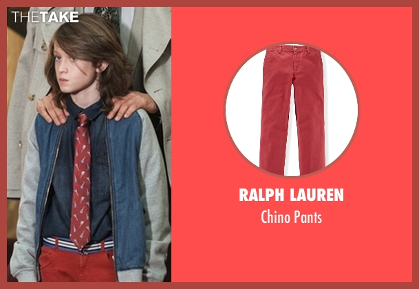 Ralph Lauren red pants from American Horror Story seen with Lachlan Drake (Lyric Angel)