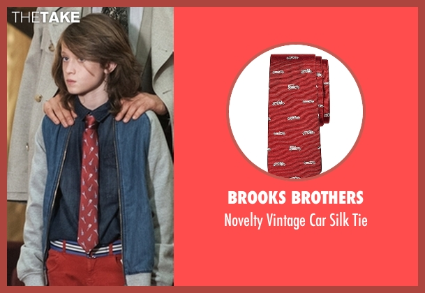 Brooks Brothers red tie from American Horror Story seen with Lachlan Drake (Lyric Angel)