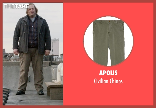 Apolis beige chinos from A Walk Among The Tombstones seen with Ólafur Darri Ólafsson (Loogan)