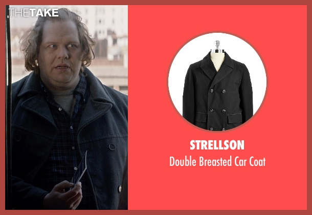 Strellson black coat from A Walk Among The Tombstones seen with Ólafur Darri Ólafsson (Loogan)