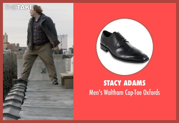 Stacy Adams black oxfords from A Walk Among The Tombstones seen with Ólafur Darri Ólafsson (Loogan)