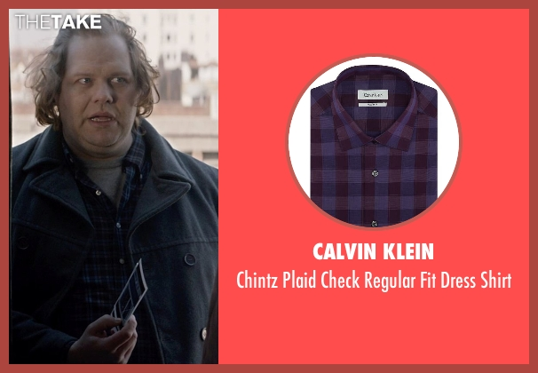 Calvin Klein purple shirt from A Walk Among The Tombstones seen with Ólafur Darri Ólafsson (Loogan)