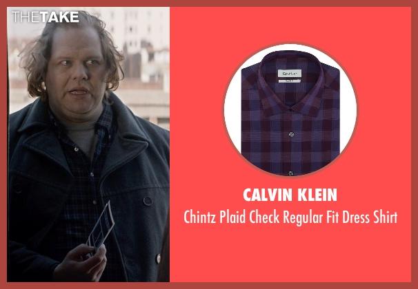 Calvin Klein purple shirt from A Walk Among The Tombstones seen with Ólafur Darri Ólafsson (Loogan)