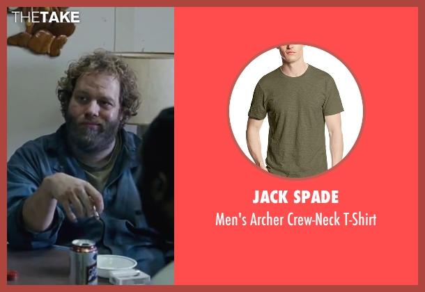 Jack Spade green t-shirt from Contraband seen with Ólafur Darri Ólafsson (Olaf)