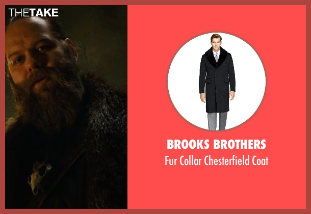 Brooks Brothers black coat from The Last Witch Hunter seen with Ólafur Darri Ólafsson (Belial)