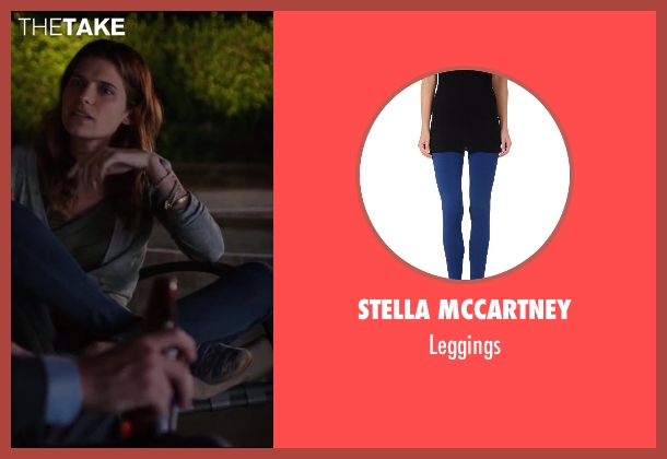STELLA McCARTNEY blue leggings from Million Dollar Arm seen with Lake Bell (Brenda Paauwe)