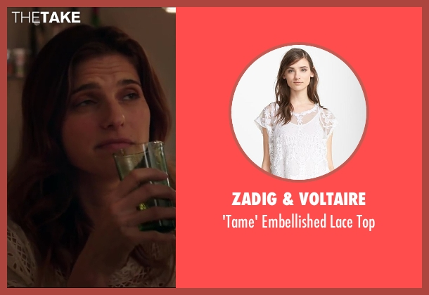 Zadig & Voltaire white top from Million Dollar Arm seen with Lake Bell (Brenda Paauwe)