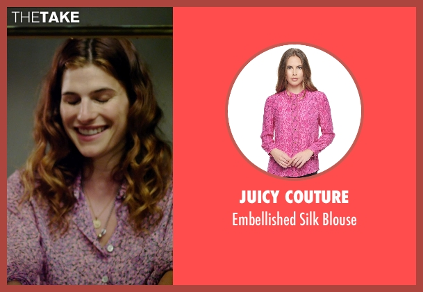 Juicy Couture purple blouse from No Escape seen with Lake Bell (Annie Dwyer)