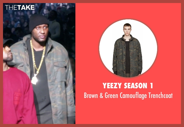 Yeezy Season 1 trenchcoat from Keeping Up With The Kardashians seen with Lamar Odom