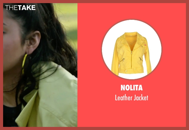 Nolita yellow jacket from X-Men: Apocalypse seen with Lana Condor (Jubilation Lee / Jubilee)