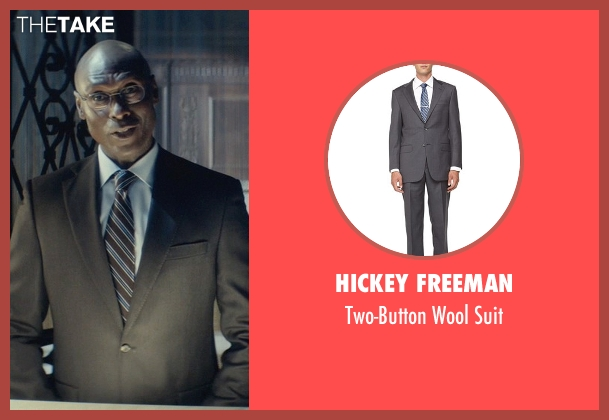 Hickey Freeman gray suit from John Wick seen with Lance Reddick (Charon)