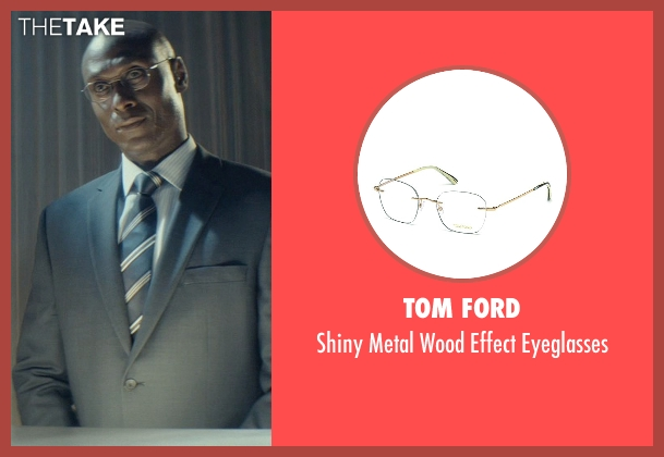 Tom Ford silver eyeglasses from John Wick seen with Lance Reddick (Charon)