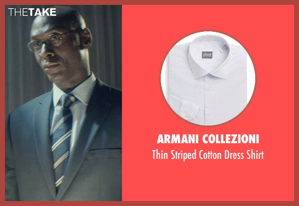 Armani Collezioni white shirt from John Wick seen with Lance Reddick (Hotel Manager / Charon)