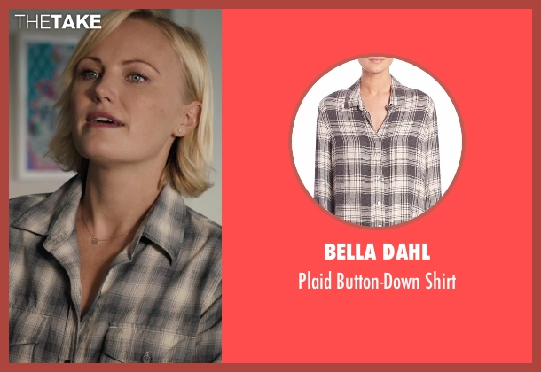Bella Dahl beige shirt from Billions seen with Lara Axelrod (Malin Akerman)