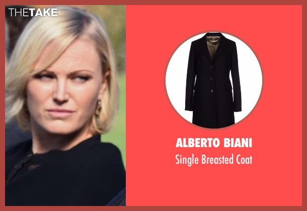 Alberto Biani black coat from Billions seen with Lara Axelrod (Malin Akerman)