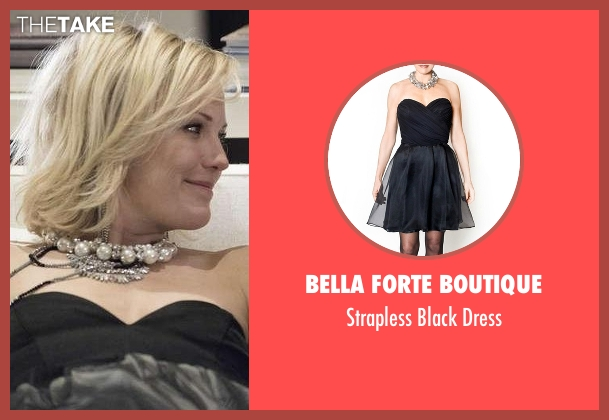 Bella Forte Boutique black dress from Billions seen with Lara Axelrod (Malin Akerman)
