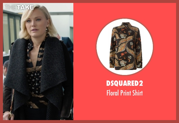 Dsquared2 black shirt from Billions seen with Lara Axelrod (Malin Akerman)