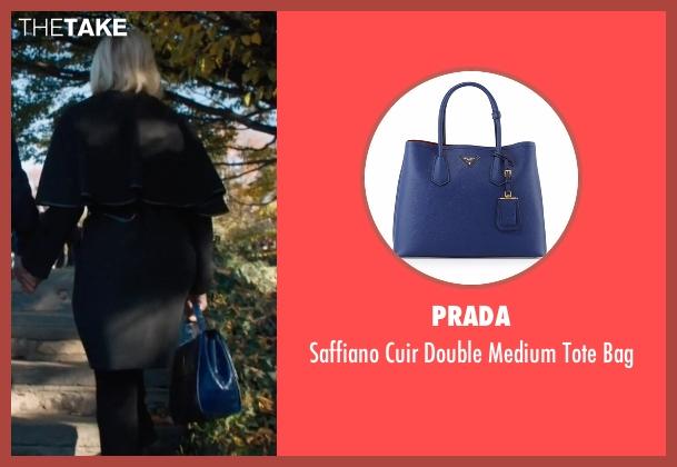 Prada blue bag from Billions seen with Lara Axelrod (Malin Akerman)