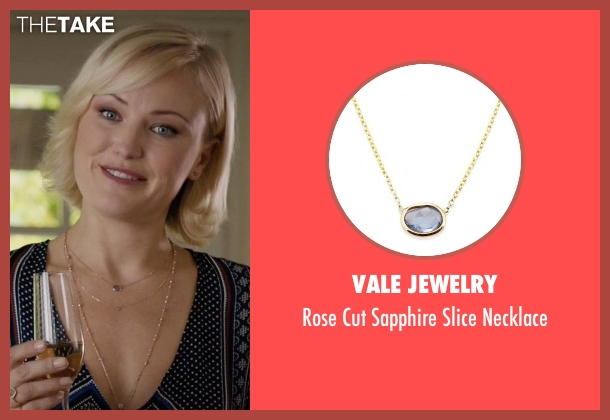 Vale Jewelry blue necklace from Billions seen with Lara Axelrod (Malin Akerman)