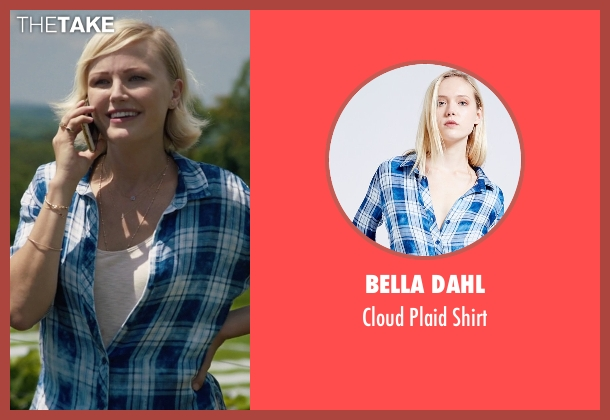 Bella Dahl blue shirt from Billions seen with Lara Axelrod (Malin Akerman)