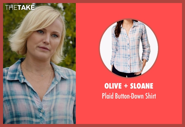 Olive + Sloane blue shirt from Billions seen with Lara Axelrod (Malin Akerman)