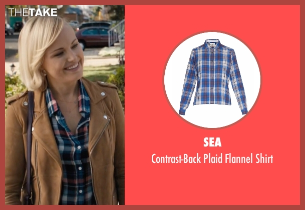 Sea blue shirt from Billions seen with Lara Axelrod (Malin Akerman)