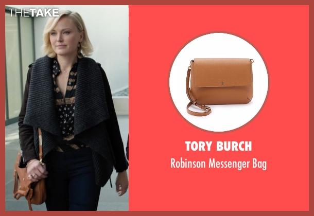 Tory Burch brown bag from Billions seen with Lara Axelrod (Malin Akerman)