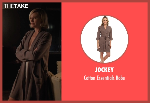 Jockey brown robe from Billions seen with Lara Axelrod (Malin Akerman)