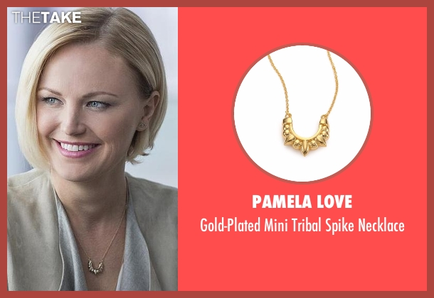 Pamela Love gold necklace from Billions seen with Lara Axelrod (Malin Akerman)