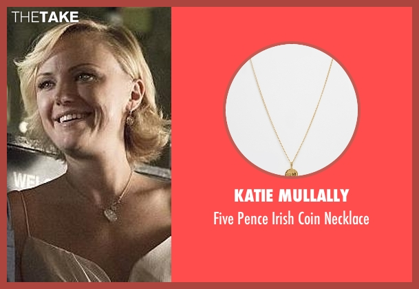 Katie Mullally gold necklace from Billions seen with Lara Axelrod (Malin Akerman)