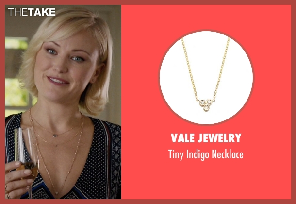 Vale Jewelry gold necklace from Billions seen with Lara Axelrod (Malin Akerman)