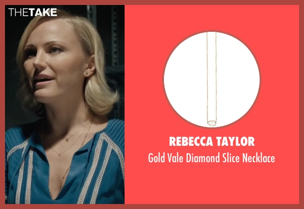 Rebecca Taylor gold necklace from Billions seen with Lara Axelrod (Malin Akerman)