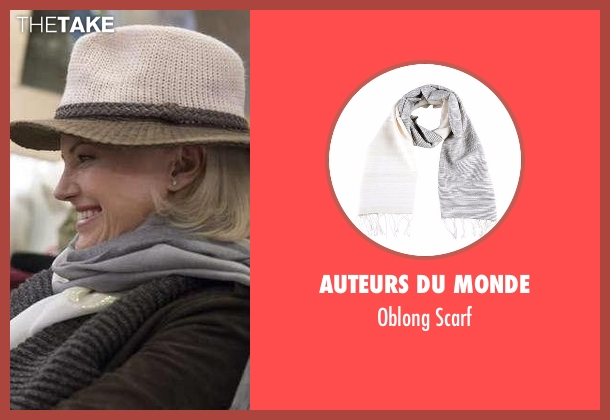 Auteurs Du Monde gray scarf from Billions seen with Lara Axelrod (Malin Akerman)