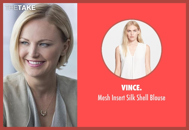 Vince. white blouse from Billions seen with Lara Axelrod (Malin Akerman)
