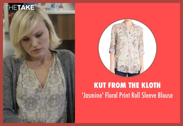 Kut From The Kloth white blouse from Billions seen with Lara Axelrod (Malin Akerman)