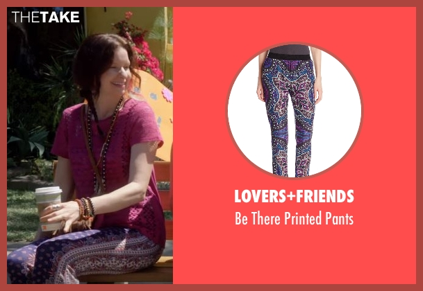 Lovers+Friends purple pants from Lady Dynamite seen with Larissa (Lennon Parham)