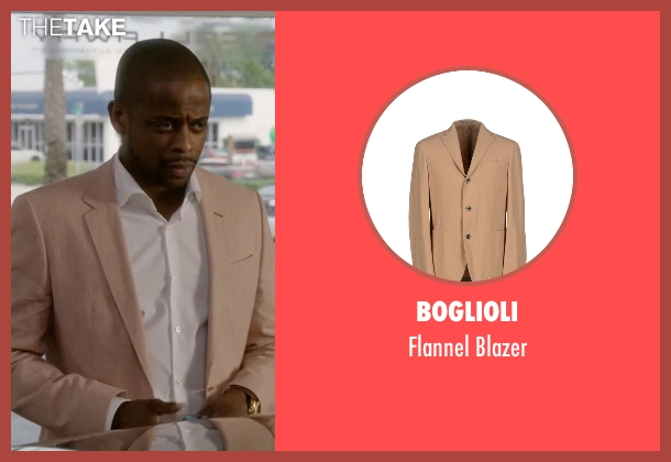 Boglioli beige blazer from Ballers seen with Larry (Dulé Hill)