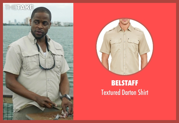 Belstaff beige shirt from Ballers seen with Larry (Dulé Hill)