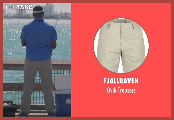 Fjallraven beige trousers from Ballers seen with Larry (Dulé Hill)