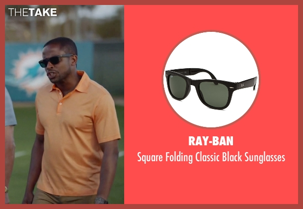 Ray-Ban black sunglasses from Ballers seen with Larry (Dulé Hill)